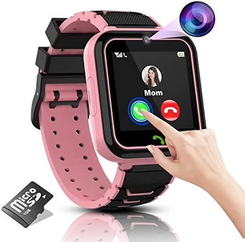 Kids Smart Watch Girls Phone Camera Selfie SOS Calling Smartwatch for Kids Waterproof IPX5 Games product image