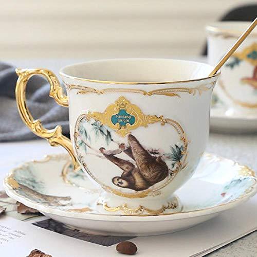 Teller Fangqi Rainforest Keramikgeschirr Chinesisches Skelett Tier Dessert Obstteller Home Porzellan Dekoration Lieferung Kostenlose B-Kaffeetasse