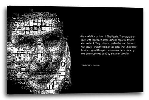 Leinwand (120x80cm): Steve Jobs Spruch motivierend, Team-Work Zusammenarbeit Er