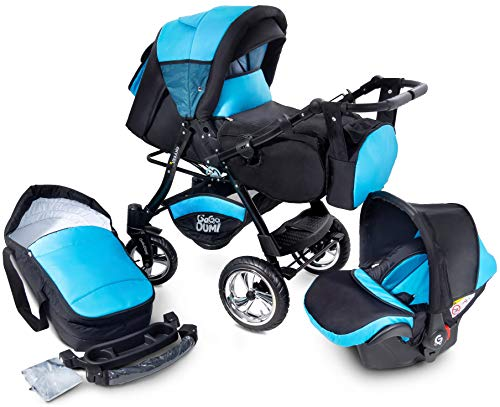 Urbano Kombikinderwagen Kinderwagen Babyschale 3in1 System Autositz (U6-Oceanic)