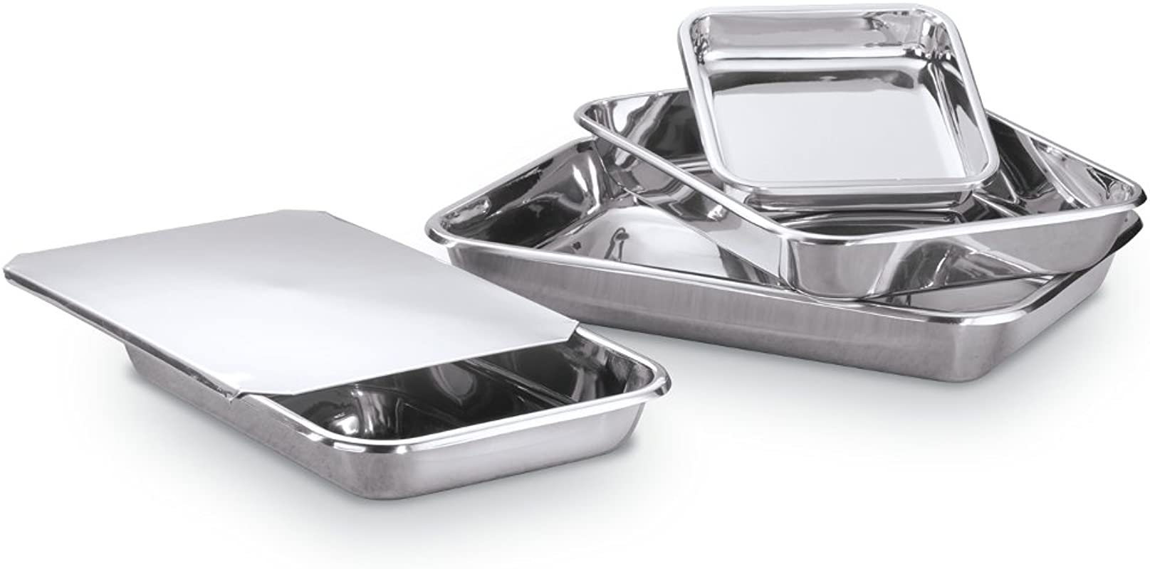 Hammer Stahl MI 138 Rectangular Bake Bakeware Set Stainless Steel