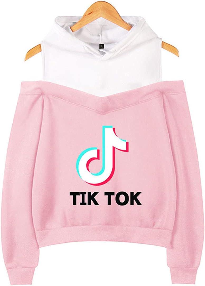 ACEGI San Jose Mall Hoodie Women's Sling New item Off Ladies Shoulder Lightw Sweatshirt