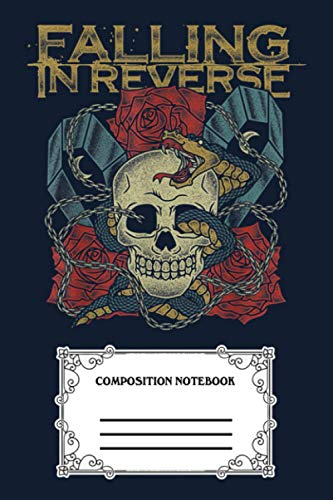 Falling In Reverse - The Death - Official Merchandise 2D Notebook: 120 Wide Lined Pages - 6