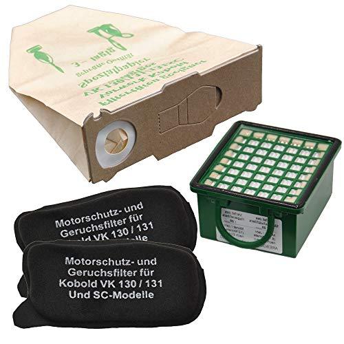 10 Staubsaugerbeutel 1 Hepafilter, 2 Motorfilter geeignet für Vorwerk Foletto Kobold 130 131