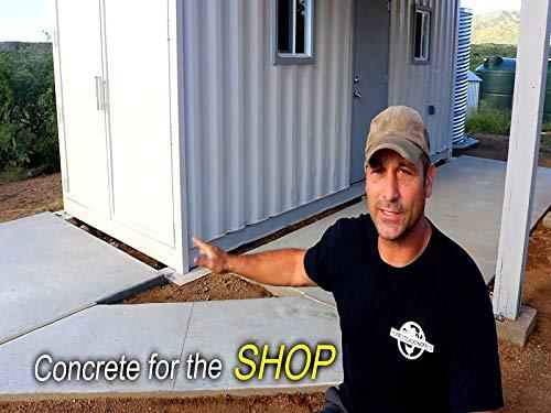Concrete Pour - Shipping Container Shop