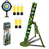 ABCaptain Mortar Launcher Military Blaster Toys Playset Soft Foam Rockets Missile Shooting Game for Kids Boys and Girls - 5 Shells