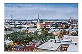 Savannah, Georgia - Historic Downtown Savannah - Photography A-94824 (Premium 1000 Piece Jigsaw Puzzle for Adults, 19x27)