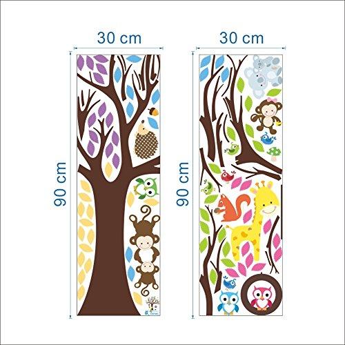 Home Decoration Art Fotobehang Papier, Uil Boomtak Driedimensionale Muursticker Stickers