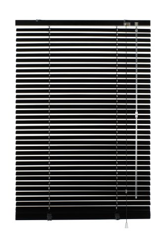 Gardinia 6876 Aluminium Jalousie 25 mm, 110 x 175 cm, schwarz
