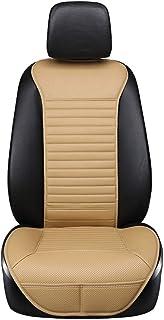 Lyfsxjzqr Protector del Asiento Cojín automóvil Organizador del Asiento del automóvil Cubiertas del cojín del Asiento Respaldo Almohadilla Respaldo Transpirable Asiento del automóvil (Color : Gray)