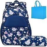 Schulrucksack Mädchen Kinder Schultasche Kinderrucksack Mädchen Rucksack Schule Einhorn Rucksack mit Brustgurt mit Mäppchen