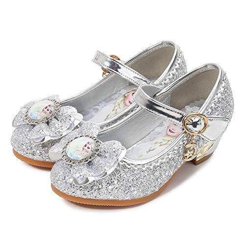 YONIER Principessa Scarpe Festive Scarpe col Tacco da Principessa per Bambina Buona qualità Partito Scarpe Principessa Scarpe Eleganti