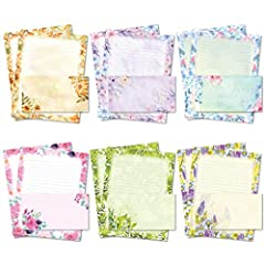 ★DISTINCTIVE STATIONARY PAPER AND ENVELOPES SET★ These stationary set is perfect for who loves to write handwritten letters. The letter writing paper with some decoration at corner and slightly color background makes calligraphy or writing clear but ...