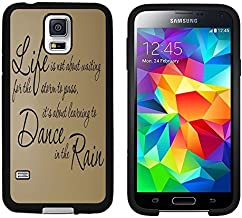 Galaxy S5 Case, Laser Technology for Protective Samsung Galaxy S5 Case Black DOO UC (TM) - Inspirational life Quote Life...Dance... Rain...