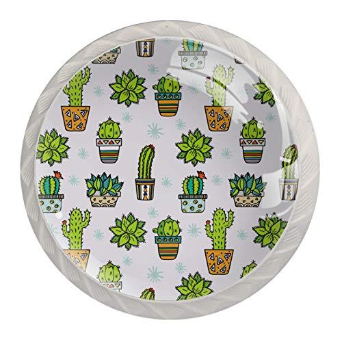 Schubladengriffe ziehen für Home Kitchen Dresser Wardrobe,Cacti Fabric Print Design