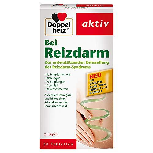 Doppelherz Bei Reizdarm – Medizinprodukt zur unterstützenden Behandlung des Reizdarm-Syndroms mit Symptomen wie Blähungen, Verstopfungen, Durchfall, Bauchschmerzen – 30 Tabletten