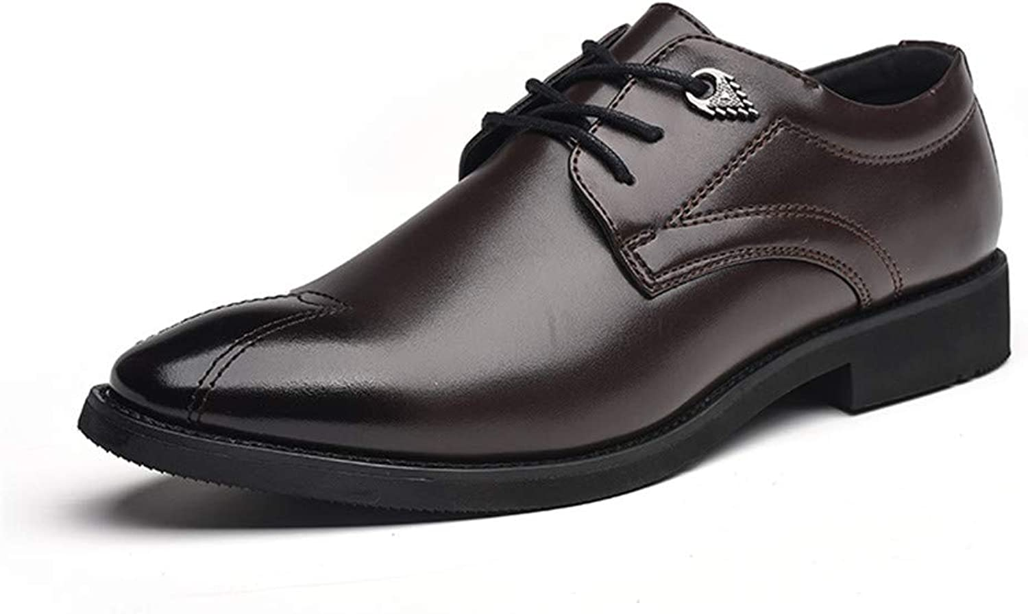 shoes Men's Business Oxford Fashion New Anti-Skid Shock Absorber Solid color Formal shoes Leather shoes