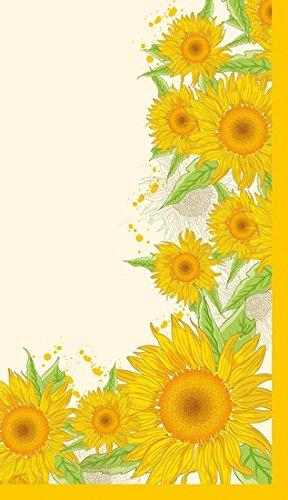 Duni tafelkleden van Dunicel 84 x 84 cm Sunflower Splash