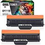 Cool Toner Pack de 2 Compatible Cartucho de Tóner Negro MLT-D111S ELS para D111S Toner Samsung Impresora Laser