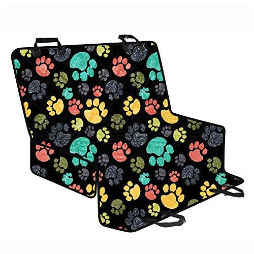 AGroupdream Autositzbezug mit Pfotenabdruck-Motiv für Hunde, wasserdicht, für den Rücksitz, Schutzbezug für Haustiere, strapazierfähig, bequem, 60 cm