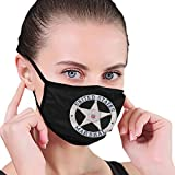 U.S. Marshal Service Badge Adult Scarf Mask Anti-dust Dust Mask for Camping Travel Black