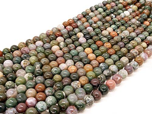 Beads Ok, Abalorios Cuentas Piedra Semipreciosa Ágata India Naturales Esferas Bola Redonda 8mm Cerca de 38cm un Tira, Vendido por Tira. 8mm Round Natural Indian Agate Gemstone Beads