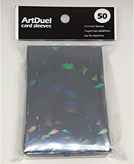 Yugioh Card Sleeves - Holographic Matte Black - 50ct