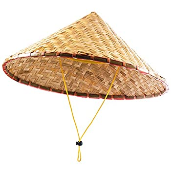 Funny Party Hats Oriental Hat - Bamboo Hat - Asian Hat - Chinese Hat - Japanese Hat – Conical Hat – Rice Farmer Hats  Bamboo Hat