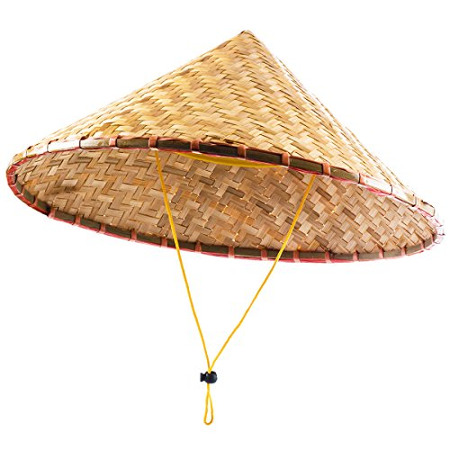 Funny Party Hats Oriental Hat - Bamboo Hat - Asian Hat - Chinese Hat - Japanese Hat – Conical Hat – Rice Farmer Hats (Bamboo Hat)