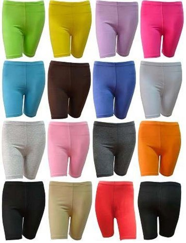 elegance1234 2 Pairs Multi Pack Women's Stretchy Cotton Lycra Above Knee Short Active Leggings **Same Day Posting** (Medium UK 12 (38), Black)
