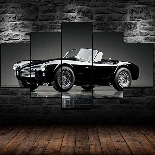 13Tdfc Bilder 1963 Shelby Cobra V8 Ford 150X80Cm Vlies Leinwandbild 5 TLG Kunstdruck Modern Wandbilder XXL Wanddekoration Design Kunstdruck XXL 5 Teilig Wohnkultur Fünfteilig Mehrteilig Rahmenlos