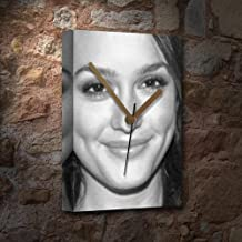 Seasons Leighton Meester - Canvas Clock (A5 - Signed by The Artist) #js002