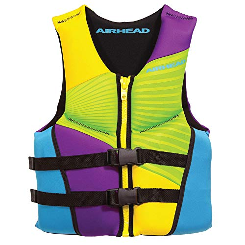 Airhead Youth GNAR Kwik-Dry NeoLite Flex Life Vest, Yellow Multi-color (10074-03-B)