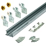 Slide-Co 161791 Bi-Pass Closet Track Kit (2 Door Hardware Pack), 48'