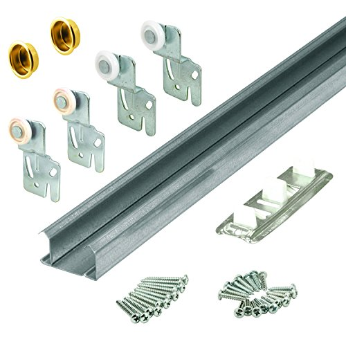 """Slide-Co 161792 Bypass Closet Door Track and Hardware Kit – Includes Hardware for Installing Two 30-Inch Sliding Closet Doors, Easy to Install, Made for Doors 3/4"""" to 1-3/8"""" Thick"""