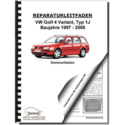 VW Golf 4 Variant 1997-2006 Radio Navigation Kommunikation Reparaturanleitung