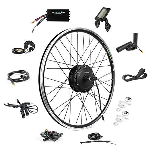 "EBIKELING 36V 500W 26"" Geared Rear Waterproof Electric Bicycle Conversion Kit (Rear/LED/Twist)"