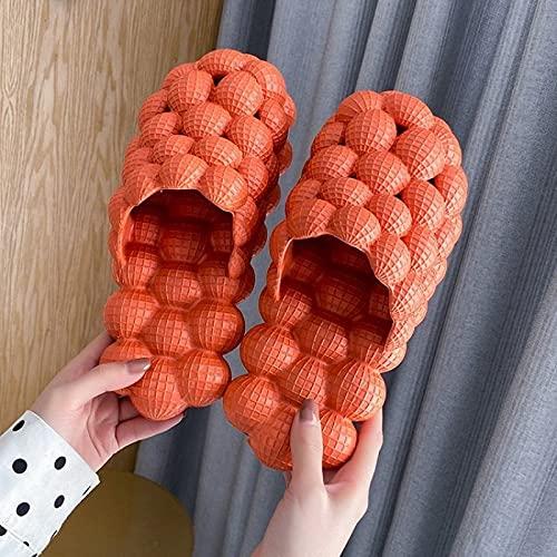 QAZW Sandalias de Mujer, Zapatillas Anchas de Suela de Esterilla de Yoga Confort para Soporte de Arco de Casa Interior,Orange-9