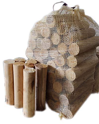 15kg mumba® - Feuerholz Birkenholz ohne Rinde, entrindet BIRKE, entrindetes Holz