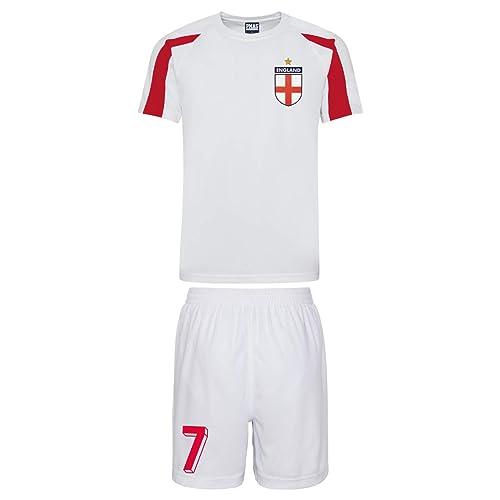 Kids Customisable Poland Polska Style Football kit Shirt and Shorts Home