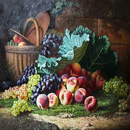 Papel Pintado 3D Murales Fruta - Fotomurales Para Salón Natural Landscape Foto Mural Pared, Dormitorio Corredor Oficina Moderno Festival Mural 250x175 cm - 5 tiras