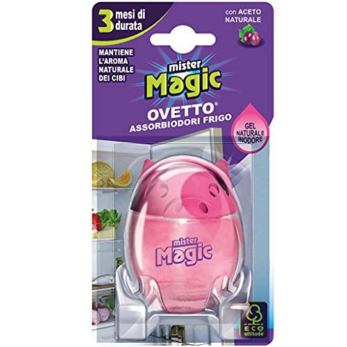 Mister Magic Ovetto Assorbiodori Frigo Aceto, Deodorante con Aceto Naturale, 3 Mesi di Durata, Mantiene Inalterato l'Odore dei Cibi, Multicolore, 16.2x7.8x4.8 cm