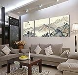Cuadro oriental en lienzo