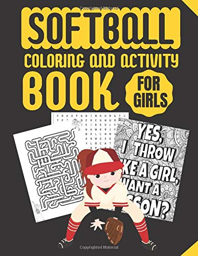 Softball Coloring And Activity Book For Girls: A Fun Activity Book Featuring Fun Coloring Pages, Word Search Puzzles, Sudoku Mazes And More! New Jersey