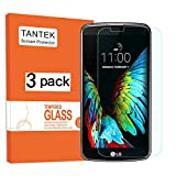 TANTEK [3-Pack] Screen Protector for LG K10,Tempered Glass Film,Ultra Clear,Anti Scratch,Bubble Free,Case Friendly