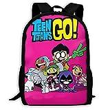 Motisure Teen Titans Go Girls Backpack Lightweight Multifunctional College School Bag Travel School Bag
