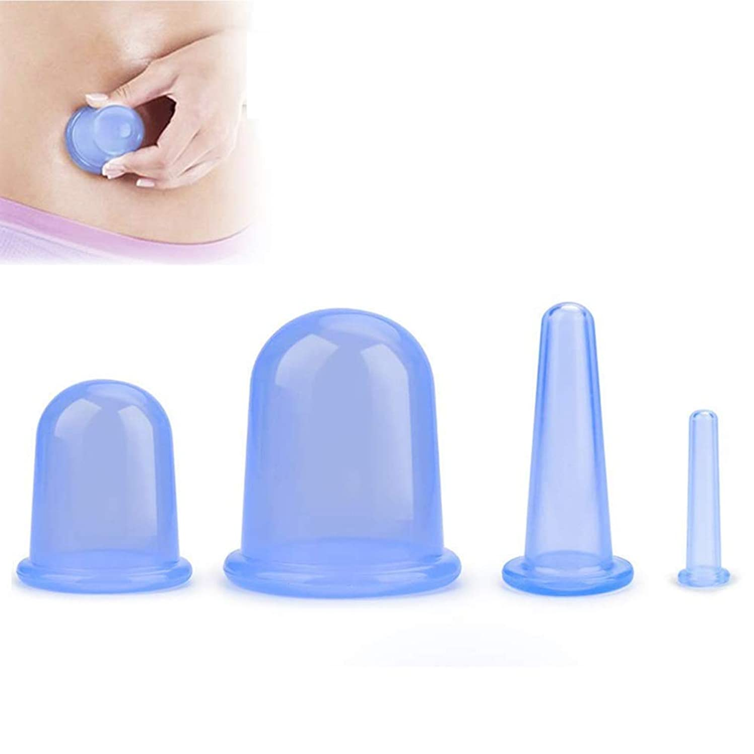 決定するコスチューム毒性吸玉 自宅エステ カッピングカップ マッサージ –フェイスカッピングに加えて、筋膜、リンパ管のドレナージ、または自然な痛みを和らげるためのアンチセルライトカップが含まれています(4個) (Color : 緑)