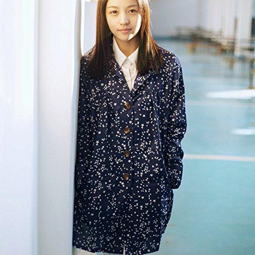 Huifang Vêtements de pluie QFFL Imperméable Cardigan Imperméable Adulte Lady Poncho Star Imperméable Bleu M imperméable