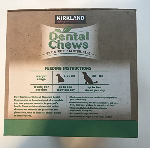Kirkland Signature Dental Chews 72 Dog Treats, green