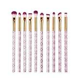 Chytaii. Brochas Maquillaje Sets de Brochas Brochas Maquillaje Brochas para Maquillaje Facial Cepillos para Ojos Brochas para Labios 10pcs